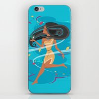 pocahontas iPhone & iPod Skins featuring Pocahontas by LindseyCowley