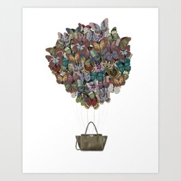 Valentino Butterfly Bag Art Print