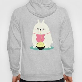 Fat bunny eating noodles Hoody