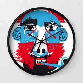 Hombre con pipa Wall Clock