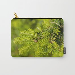 Green coniferous fresh shoots detail Carry-All Pouch
