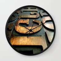 letters Wall Clocks featuring letters by Sébastien BOUVIER