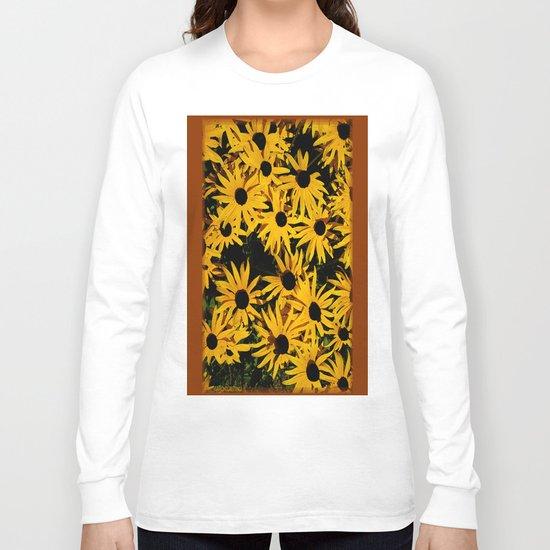 Sunshine Black Eyed Susan Flower Blossoms Long Sleeve T-shirt