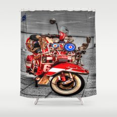Vespa Shower Curtain