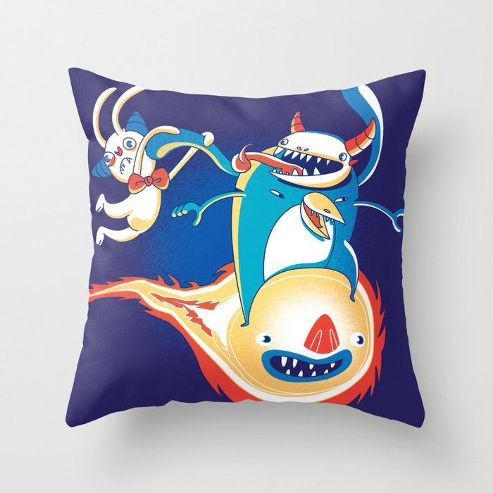 Monsteroid! Throw Pillow