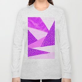 Geometric abstract lilac-violet Long Sleeve T-shirt