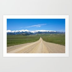 Old Country Road Art Print