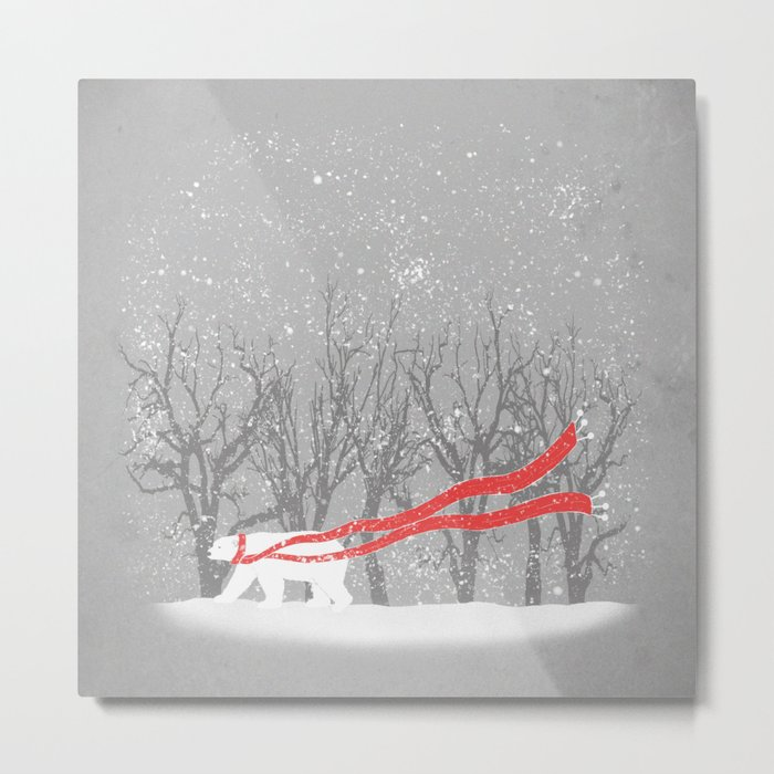 The Red Scarf Metal Print