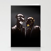 daft punk Stationery Cards featuring DAFT PUNK by Gregory Casares