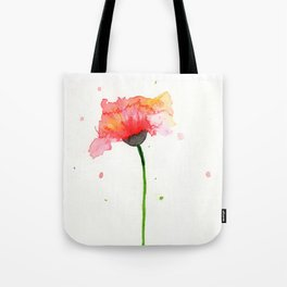 Loose Watercolour Poppy Painting Tote Bag