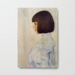 Gustav Klimt - Portrait of Helene Klimt Metal Print