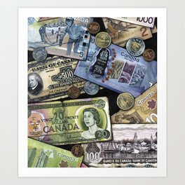 Birthday Money Art Print