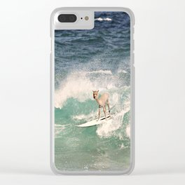 NEVER STOP EXPLORING - SURFING HAWAII Clear iPhone Case