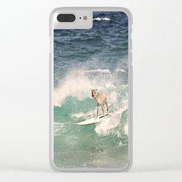 ALPACA - SURFING HAWAII Clear iPhone Case