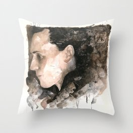 My emotional outlet is consuming the better part of me... Throw Pillow