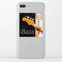 Bass Guitar neck , musical instrument  Clear iPhone Case