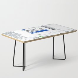 Drug Labels Coffee Table