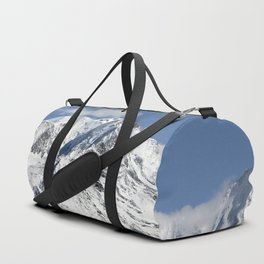 Mt. Blanc with clouds Duffle Bag