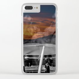 SUNSET SNARE Clear iPhone Case