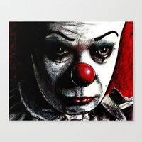 pennywise Canvas Prints featuring Pennywise by Alycia Plank