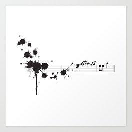 Splatter in D Minor Art Print