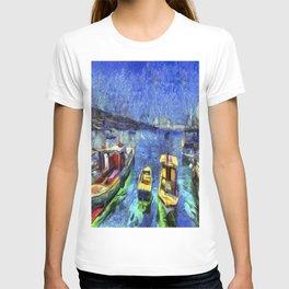 Boats and Sea Impressionist Art T-shirt