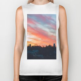 Winter sunset in Rockport Biker Tank