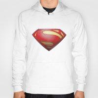 superman Hoodies featuring Superman by DeBUM