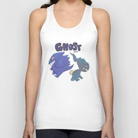 gengar Tank Tops featuring PRESS START-  Gengar and Banette by Dampho
