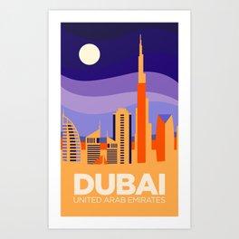 Vintage Travel: Dubai Art Print