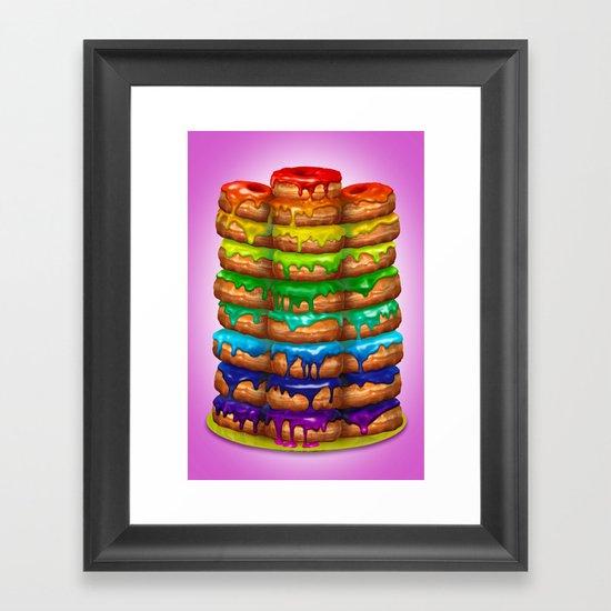 Donuts I 'Sweet Rainbow' Framed Art Print