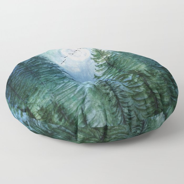 Silent Forest Floor Pillow