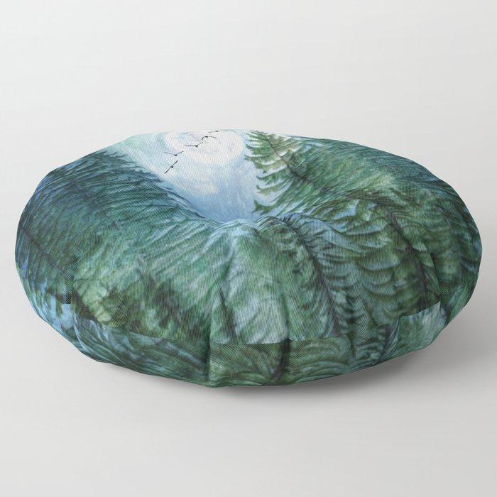 Silent Forest Floor Pillow