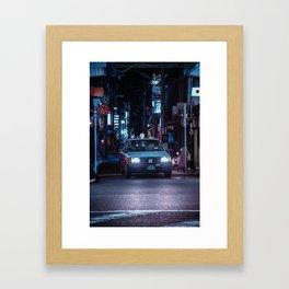 Kyoto Taxi Porn Framed Art Print
