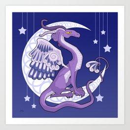 Vendel Dragon - the moon Art Print