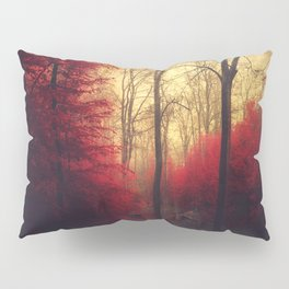 Ruby Red Forest Pillow Sham