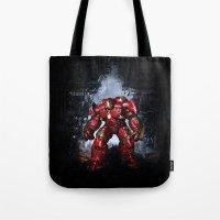 iron man Tote Bags featuring IRON MAN iron man by alifart