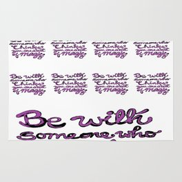 Be With Someone Purple! Rug
