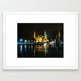 Istanbul night (Turkey 2013) Framed Art Print