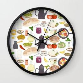 Arabian Breakfast Wall Clock