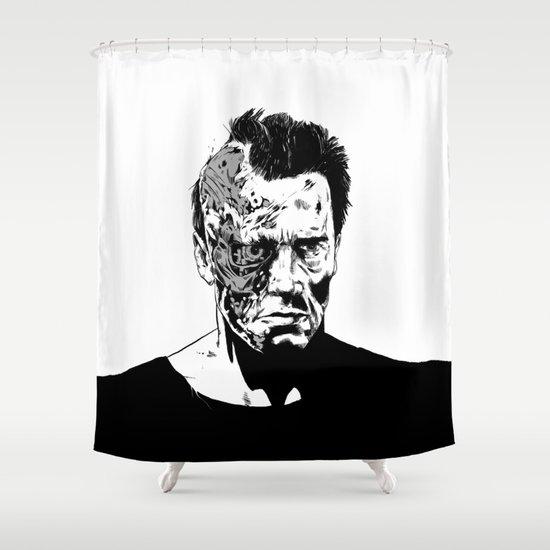 Terminator (b/w) Shower Curtain