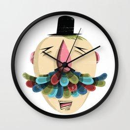 Mustachio Madness Wall Clock