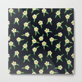Wildflowers: Cinquefoil Pattern Metal Print