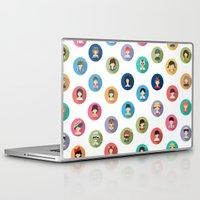 studio ghibli Laptop & iPad Skins featuring Studio Ghibli Flat by TubaTOPAL