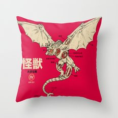 Kaiju Anatomy 2 Throw Pillow