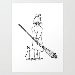 Believe in Yourself (Kiki) - Sketch Art Print