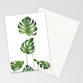 Monstera Watercolor  Stationery Cards