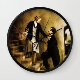 Charlie Chaplin and Virginia Cherrill Wall Clock