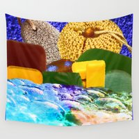 bath Wall Tapestries featuring Bubble Bath by LBH Dezines