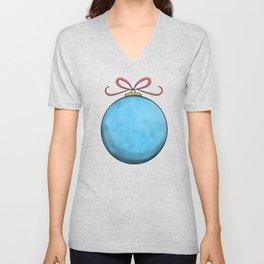 blue christmas ball Unisex V-Neck